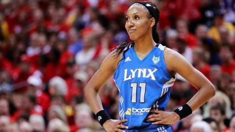 Candice Wiggins of the Minnesota Lynx in WNBA Finals in 2012.