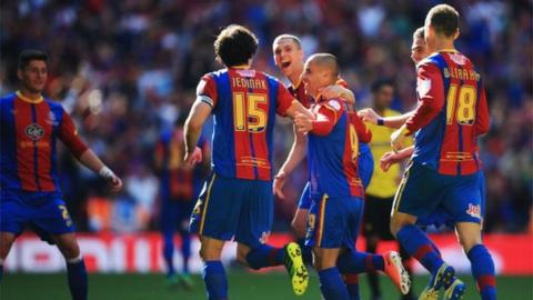 Crystal Palace beat Watford 1-0 at Wembley in the 2013-14 Championship play-off final