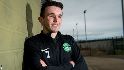 Hibernian midfielder John McGinn