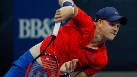 Kyle Edmund against Jack Sock at Atlanta Open