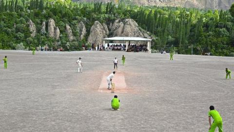 Cricket match in Chitral