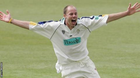 Billy Taylor takes a hat-trick for Hampshire against Middlesex in 2006