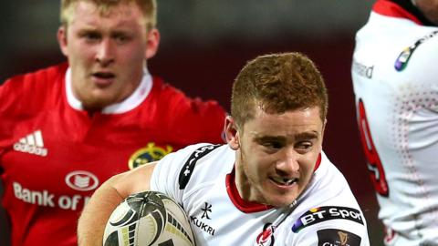 Paddy Jackson in action against Munster last season