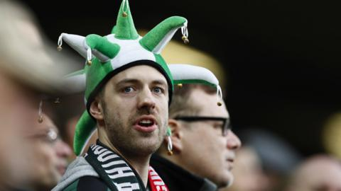 A Plymouth Argyle fan during the third round of the FA Cup