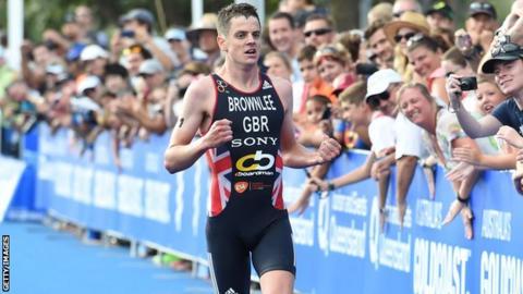 Triathlete Jonny Brownlee