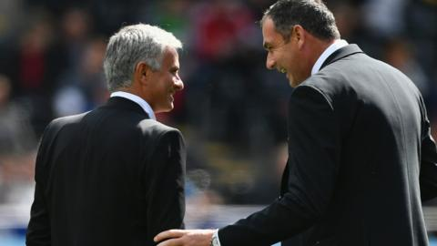 Jose Mourinho and Paul Clement
