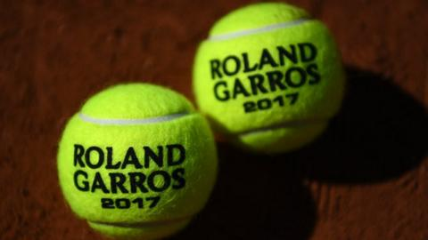 French Open tennis balls
