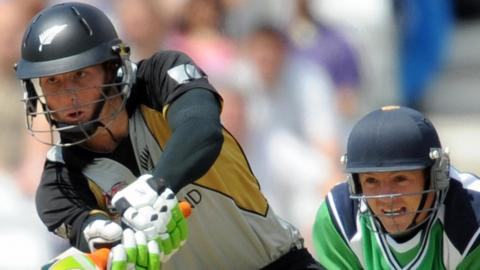 New Zealand's Martin Guptill and Ireland's Niall O'Brien in action when the sides met at the 2009 World T20