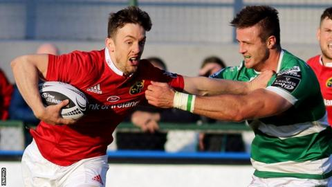 Darren Sweetnam scored Munster's first try of the game
