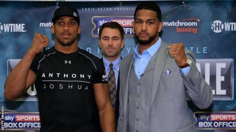 Dominic Breazeale and Anthony Joshua