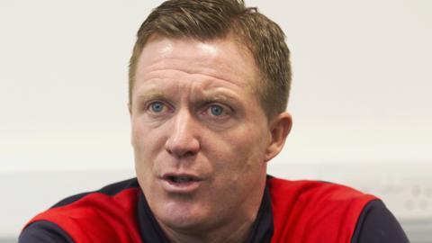 Raith Rovers manager Gary Locke