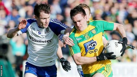 Monaghan's Karl O'Connell and Donegal's Martin O'Reilly