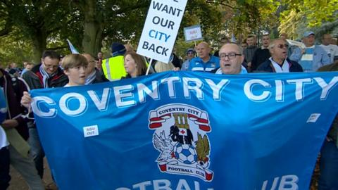 Coventry City protest