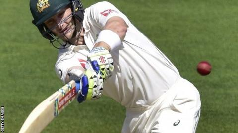 Adam Voges playing for Australia against New Zealand