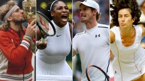 Bjorn Borg, Serena Williams, Andy Murray, Virginia Wade