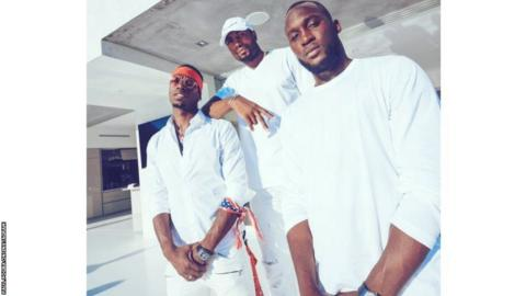 Paul Pogba, Serge Ibaka and Romelu Lukaku