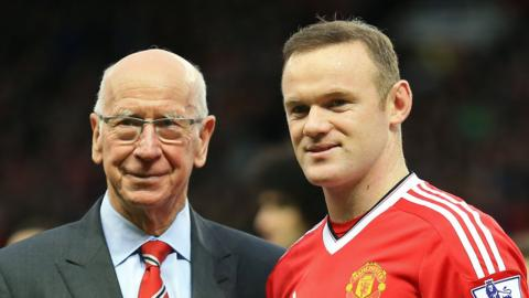Sir Bobby Charlton and Wayne Rooney