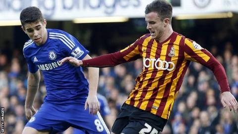 Andy Halliday was part of the Bradford side that knocked Chelsea out of the FA Cup
