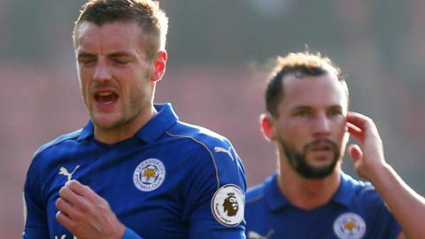Leicester duo Jamie Vardy and Danny Drinkwater