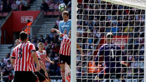 Peter Crouch rose to head home his 10th goal in all competitions this season