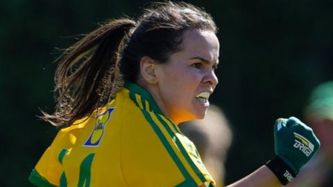 Geraldine McLaughlin hit 2-6 for Donegal at Clones