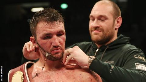 Hughie Fury (left) and cousin Tyson are both hopeful of capturing belts in the heavyweight division