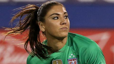 Hope Solo, the USA national team goalkeeper.