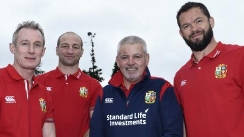 Rob Howley, Steve Borthwick, Warren Gatland and Andy Farrell