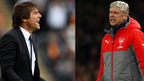 Chelsea boss Antonio Conte (left) and Arsenal boss Arsene Wenger (right)