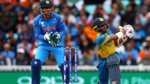 India's MS Dhoni and Sri Lanka's Kusal Mendis