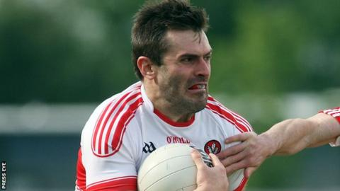 Mark Lynch captained Derry in Saturday's Round 1A 1-18 to 2-10 qualifier win over Louth at Owenbeg
