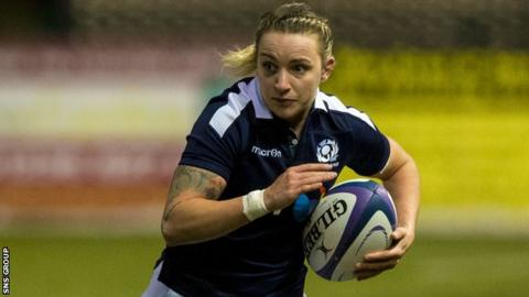 Chloe Rollie in action for Scotland