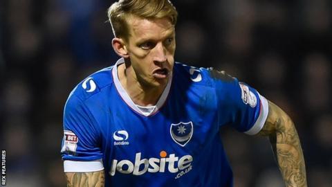 Portsmouth midfielder Carl Baker