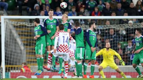 Croatia beat Northern Ireland 3-0 in a friendly international at Windsor Park in 2016