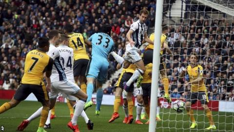 Craig Dawson heads in the opener