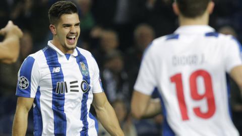 Andre Silva celebrates