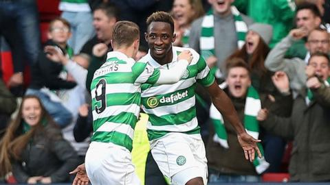 Leigh Griffiths (left) and Moussa Dembele