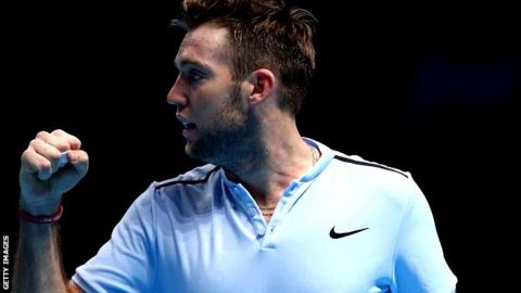 Sock defeats Cilic to maintain semis push