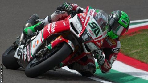 Eugene Laverty during free practice in Italy