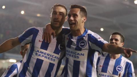 Glenn Murray celebrates goal for Brighton