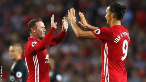 Wayne Rooney and Zlatan Ibrahimovic