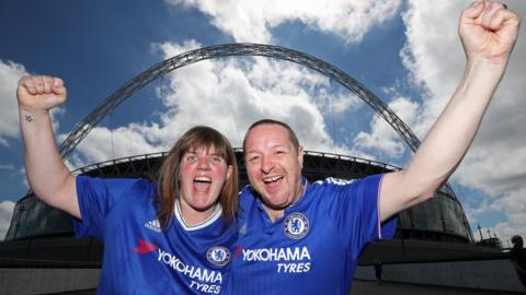 Chelsea fans ahead of the FA Cup final
