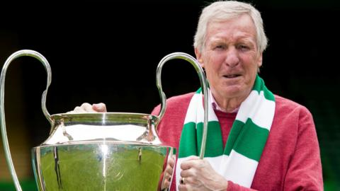 Billy McNeill pictured with the European Cup in 2014