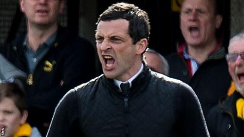 Alloa Athletic manager Jack Ross