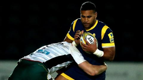 Worcester Warriors winger Cooper Vuna returns at Sixways after being called up by Tonga last weekend
