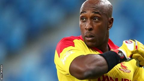 Michael Carberry in action for the Sagittarius Strikers