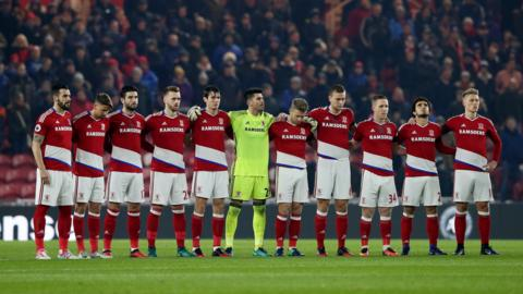 Middlesbrough observe a minutes silence