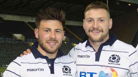 Ali Price and Finn Russell pictured after Scotland's autumn win over Georgia