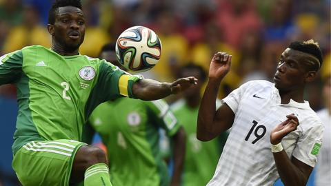 Nigeria v France at the 2014 World Cup
