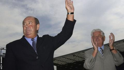 Howard Kendall and Sir Philip Carter